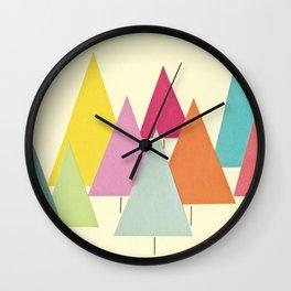 Fir Trees Wall Clock