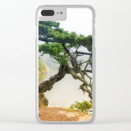 Pining For You Orcas Island Pine Tree Clear iPhone Case