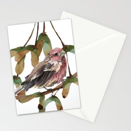 Maple Sweet Housefinch Stationery Cards