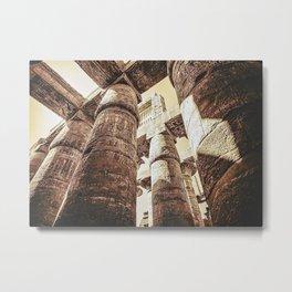 The Great Hypostyle Hall Precinct Of Amun Karnak Temple ... Metal Print