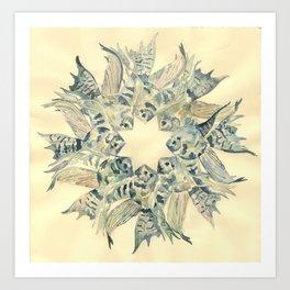 Clown Angelfish Mandala Art Print
