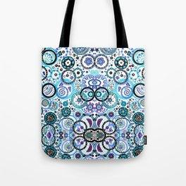 Blue Circles Tote Bag