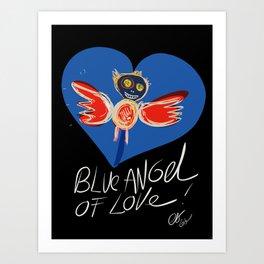 Blue Angel of Love Street Art Graffiti By Emmanuel Signorino © Art Print