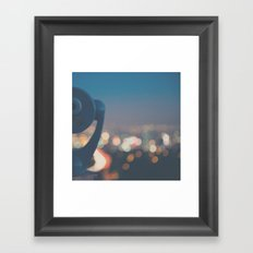 being a tourist in LA ... Framed Art Print