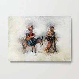 Journey to Bethlehem Metal Print