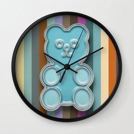 Blue enamel gummy fruit bear Wall Clock