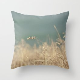 Goat Beach Grass   Throw Pillow