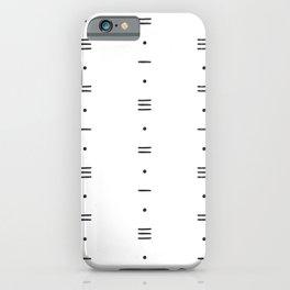 Dots & Dashes - Minimalist Line Pattern - White iPhone Case