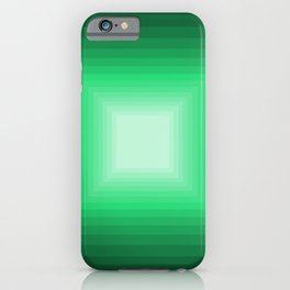 Green Square Gradient iPhone Case