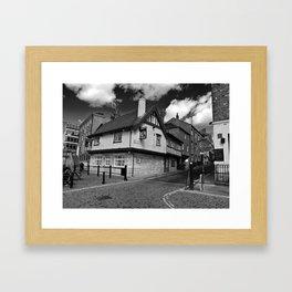 Kings arms. The pub that floods. Framed Art Print