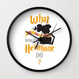 What Would She Do Wall Clock