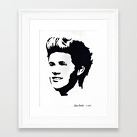 niall horan Framed Art Prints featuring niall horan  by LexxieD