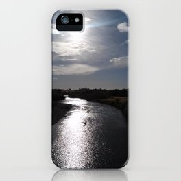 River at sunset iPhone Case