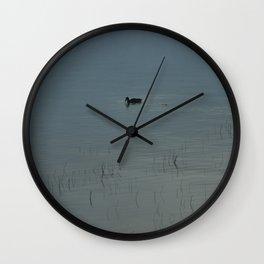 Morning Blue: Mallard Wall Clock