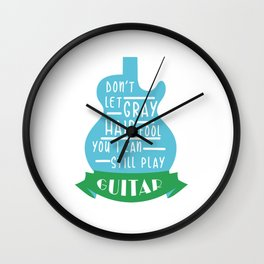 Electric Guitar Guitarist Classical Electronical Wall Clock