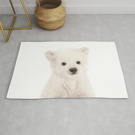 Baby Polar Bear Portrait Rug