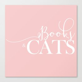 Books And Cats V2 Canvas Print