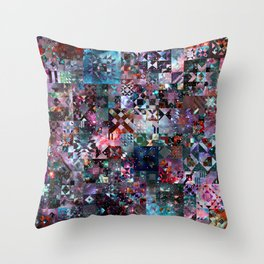 Galaxy Quilt Throw Pillow