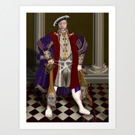 Political Correctness: the Dark Appeasement of King Henry Art Print