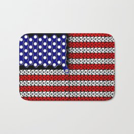 Bike USA Flag Bath Mat