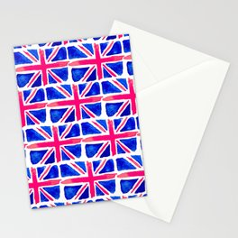 Watercolour Union Jack  Stationery Cards