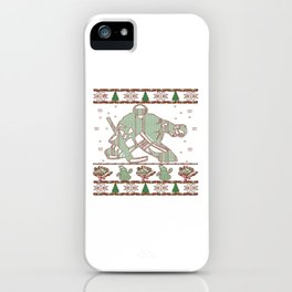Hockey Goalie Christmas iPhone Case