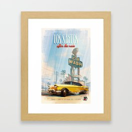 Love Los Santos after the rain Framed Art Print