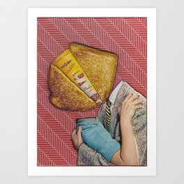 Grilled Cheese Love No. 28 Art Print