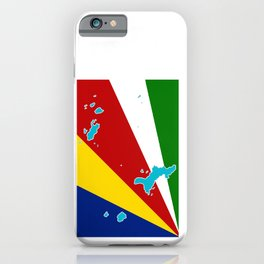 Seychelles Flag with Maps of the Seychelles Islands iPhone Case