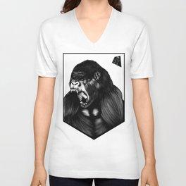Silverback Gorilla Unisex V-Neck