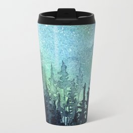 Galaxy Watercolor Space Night Sky Nebula Painting Aurora Travel Mug