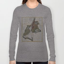 Vintage Map of New York City Harbor (1866) Long Sleeve T-shirt