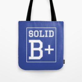 """""""Solid B+"""" Tote Bag"""