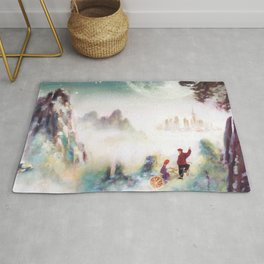 Canvas prints childrens bedrooms - Snowy mountains of Asia Rug