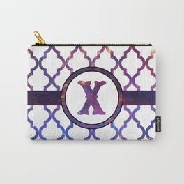 Galaxy Monogram: Letter X Carry-All Pouch