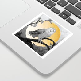 Golden Owl Sticker