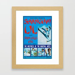 Shanghai Lil and the Sun Luck Kid Framed Art Print