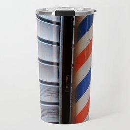 Vintage Barber Pole Travel Mug