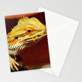 bearded dracon 2 Stationery Cards