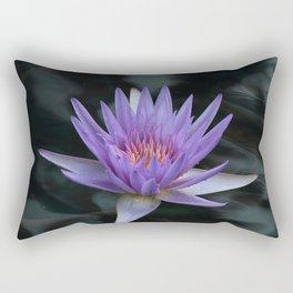 Purple Beauty - Water Lily Rectangular Pillow