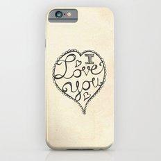 I Love You Sketch iPhone 6s Slim Case