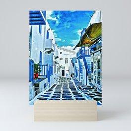 Mykonos Market Hallway Mini Art Print