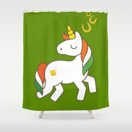 St. Patrick's Day Unicorn 2 Shower Curtain