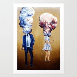 Head in the Clouds 1 Art Print