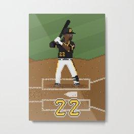 Major League Pixels - 8bit Cutch Metal Print