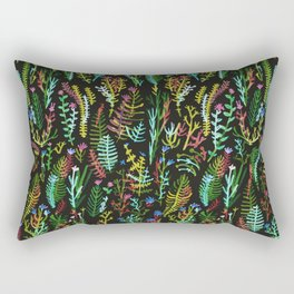 dark gaden with color flowers Rectangular Pillow