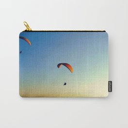 two paragliders in the sky Carry-All Pouch