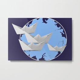 paperboats Metal Print
