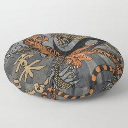 Jiu Jitsu Tiger and Dragon Art, Yin Yang, Martial Arts, Bjj Mma, Japanese Floor Pillow