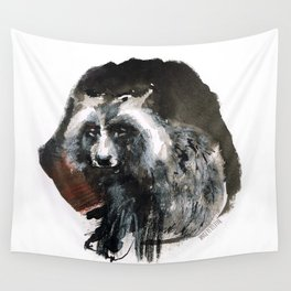 Totem  Racoon dog Wall Tapestry